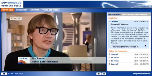 Tim Renner Deutsche Welle TV