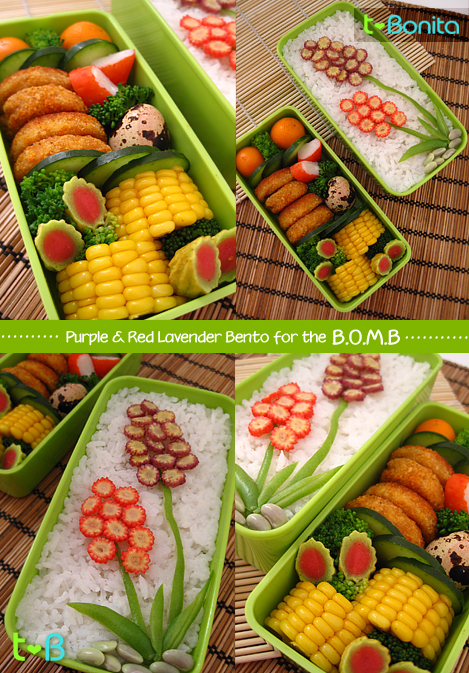 Purple & Red Lavender Bento for the B.O.M.B 2