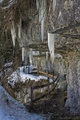 Ice daggers (II) (Thomaniac) Tags: winter cold ice rock frozen path natur walkway translucent fels transparent kalt eis icicles daggers overhang weg eiszapfen pfad sculpt dolche gefroren canoneos450d überhang thomaniac