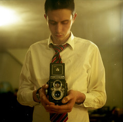 Hello :) (Nick Today) Tags: morning portrait me self fuji superia tagged mat about 100 expired yashica 10things yashicamat ramblerambleramble outoffocusalittle ialwaysfeelguiltytaggingpeople ichangedthephotolastminutebecausetheotheroneirkedmeforsomereasonsomethingslight