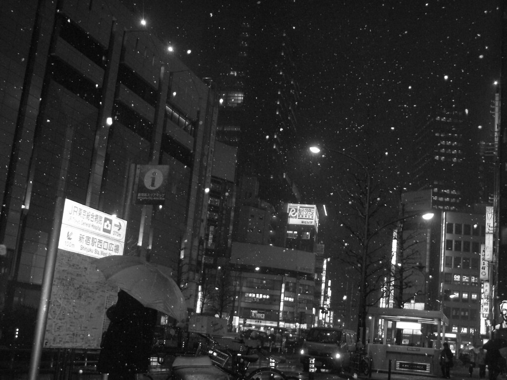 Shinjyuku snow night