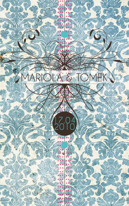 Mariola & Tomek – projekt zaproszeń – BAROQUE