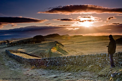 Shooting the Wall (Azzmataz) Tags: camera sunset wall landscape hall photographer d northumberland hadrians a 2010 lightingthewall 2010adhall