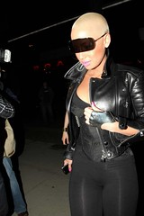 amber rose rocking see through spandex