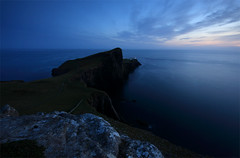 Neist Point Lighthouse, Isle of Skye. (freeskiing) Tags: blue autumn sunset sea lighthouse skye water scotland isleofskye calm september gloaming highlandsofscotland neistpoint thelittleminch benthorburn