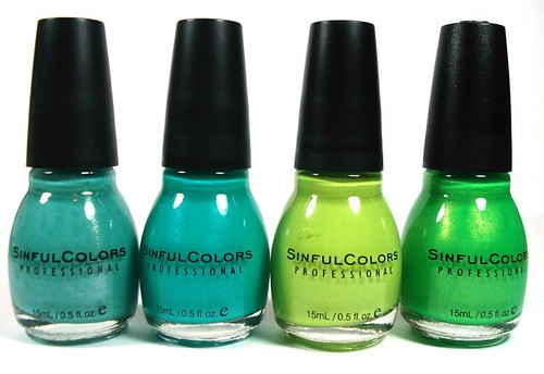 Sinful Colors Green Shades