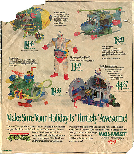 WAL-MART :: .. ' Turtley ' Awesome ! - spot ad (( 1991 ))