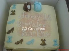Handbags, Shoes & Dresses Cake (G3 Creations (Nikis Cakes)) Tags: blue london cake shoes birthdaycake dresses handbags carrotcake babyblue buttercream eggless orangebuttercream sugarmodelling g3creations wwwg3creationscom