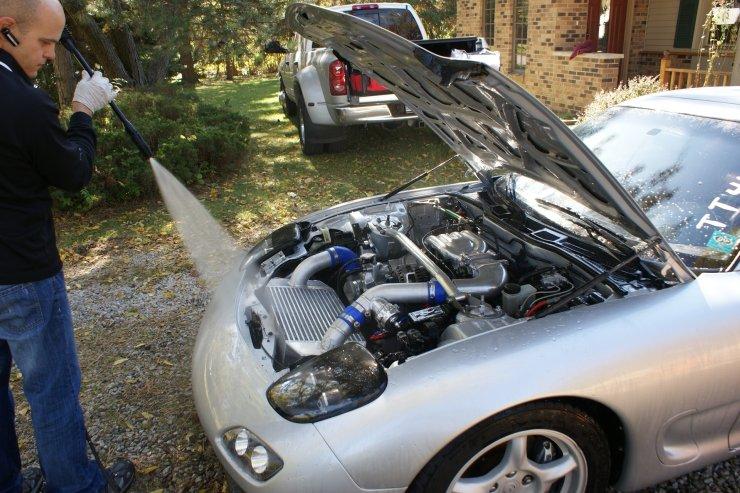 RX7 engine rinse