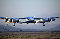 "VSS Enterprise First Flight       The Triumph of Private ""Enterp (telesatelite) Tags: ca usa mojave richardbranson burtrutan markgreenberg whiteknight2 spaceship2 vssenterprise"
