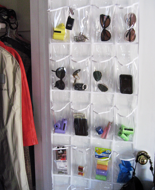 plastic shoe holder for odds and ends -2