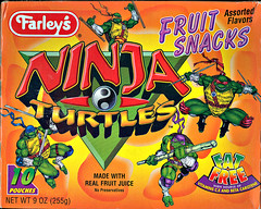 "Farley's ""Ninja Turtles: The Next Mutation"" Fruit Snacks -  ii (( 1997 ))"