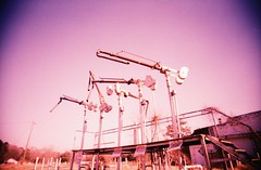 Gas pipe sculpture (anómyk) Tags: county old sculpture color abandoned film neglect rural 35mm ga georgia lomo xpro lomography crossprocessed junk closed fuji slim cross calhoun decay crossprocess south pipe toycamera wide ruin deep gas southern ghosttown fujifilm 100 process vignetting derelict vivitar processed vignette ultra abandonment dilapidated plasticcamera uws sensia colorshift deepsouth leary ultrawideslim junkcamera colourshift plasticlense rurex e6toc41 weirdgeorgia rurexing anomyk