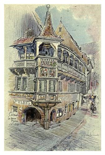 007-Colmar-Casa Pfister-Alsace-Lorraine-1918- Edwards George Wharton