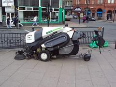 A Green Machine (The Chairman 8) Tags: bradford yorkshire brush greenmachine streetsweeper centenarysquare greenmachines aldermanbury
