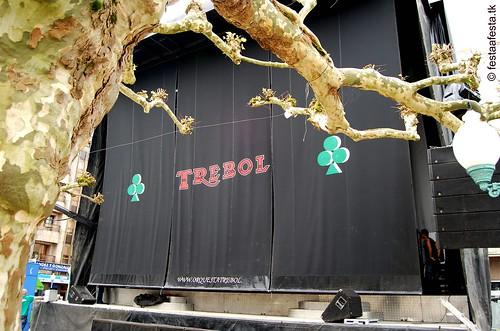 Orquesta Trébol - 2007 - Palco en Ordes na Festa do Champiñón
