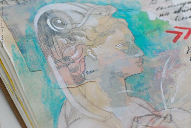 Travel sketchbook, Bologna, detail