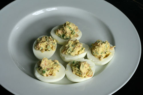 Prosciutto and Arugula Deviled Eggs Recipe