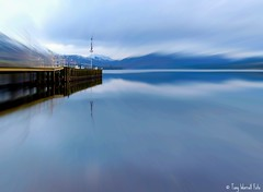 Ullswater in Winter (Tony Worrall) Tags: blue winter lake reflection nature wet water out season outside pier cool view jetty north stock lakes scenic h2o hills cumbria steamer picnik feature damp ullswater thelakedistrict