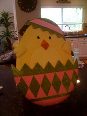 Mrs Krynsky has brought home a festive version of the Twitter bird