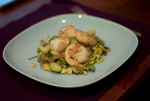Scallops with Pancetta and Brussels Sprouts