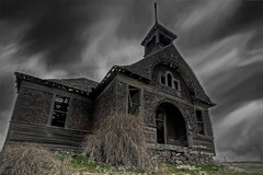 declining dream (Dene' Miles) Tags: world pictures camera old longexposure school usa art abandoned beautiful night clouds rural photoshop landscape outdoors photography interesting nikon scenery artistic photos farm awesome unitedstatesofamerica tripod creative scenic picture surreal sigma wideangle roadtrip farmland structure oldschool haunted spooky photographs pacificnorthwest northamerica destination dreamy schoolhouse washingtonstate popular westcoast pnw eyecandy 2010 photogaph pacificnw easternwashington d90 easternwa denemiles