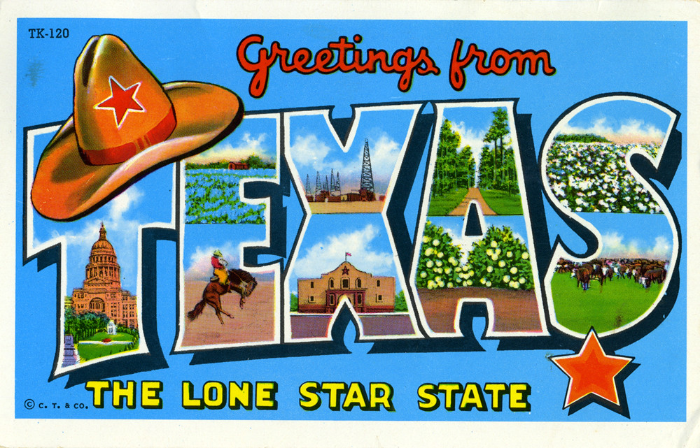 The worlds best photos of chromelithopostcards and postcard greetings from texas the lone star state large letter postcard shook photos m4hsunfo
