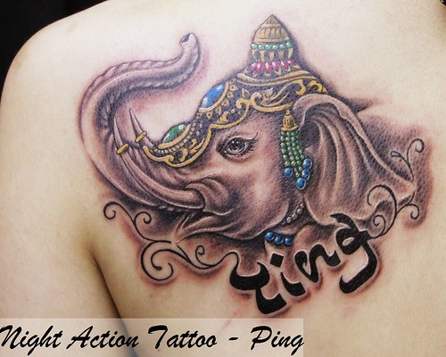 cat 貓 刺青 · elephant tattoo