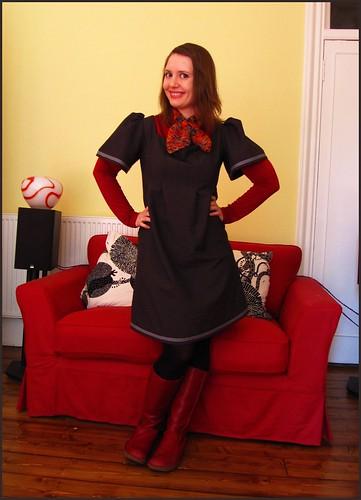 2.4.10: custom made dress plus red