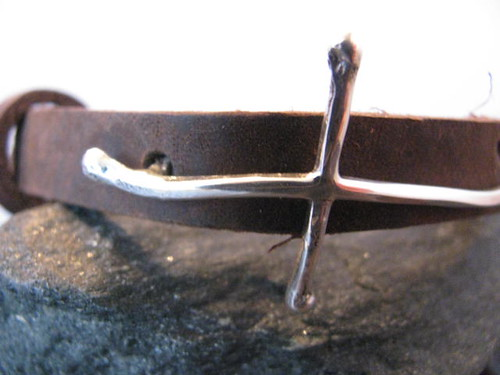Leather and Sterling Silver Cross