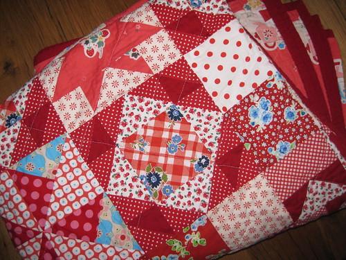 gramas garden quilt, folded