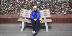 N Seoul Tower, Korea (LarrynJill) Tags: tower fence bench korea seoul picnik 2010 padlocks ntowerseoul