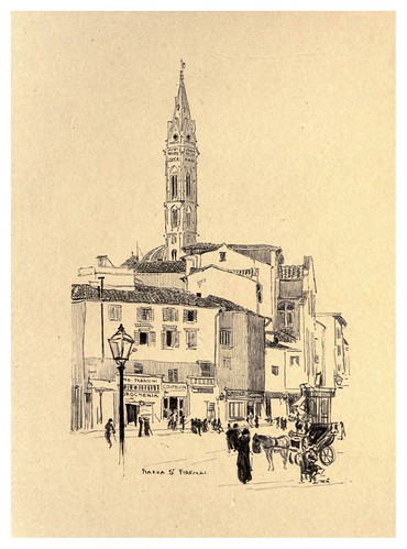 004-Plaza San Firenzi-Florence  a sketch book (1914)- Richards Fred