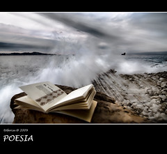poesia _ poetry (tofercu) Tags: ocean blue red sea people color beach nature water self canon landscape book photo spain europe flickr day photos libro girona explore catalunya costabrava photgraphy subset embrujo llibre 40d abigfave topf25faves tonifernandez tofercu photobnet salpatx lempord