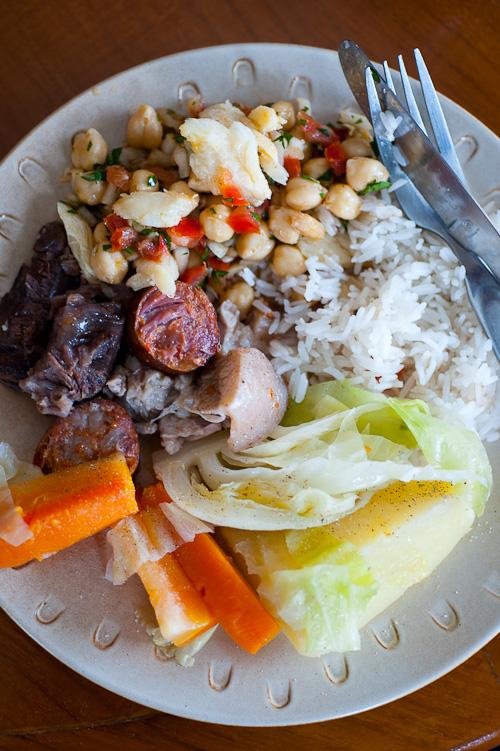 A dish of cozido à Portuguesa