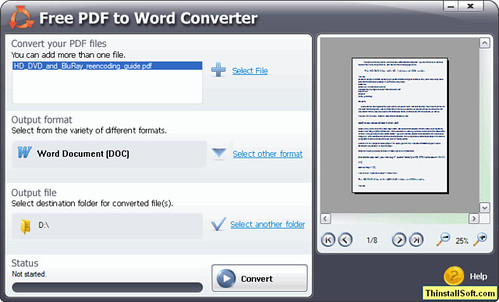 Free PDF to Word Converter Portable