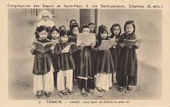 TONKIN - Hanoï - Une leçon de lecture en plein air - Congrégation des Soeurs de Saint Paul - CHARTRES by manhhai