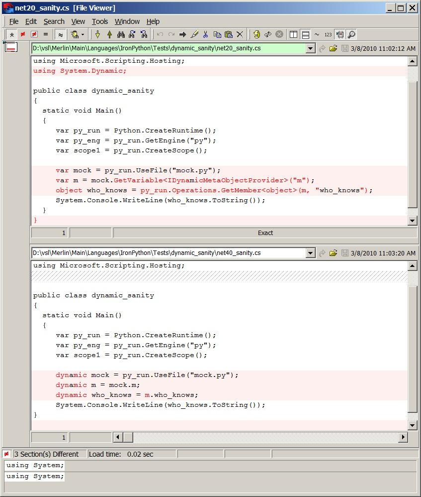 .NET 2.0 SP1 versus .NET 4.0 DLR Hosting APIs