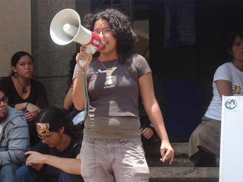 Carmen Pulido en el rectorado