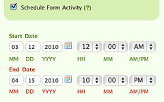 Use form scheduling for the contest to automatically turn the form on and off at the right time.