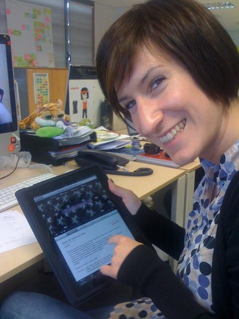iPad en manos de Sonesu yeeeeaaaahhhh #ipad #bikolabs