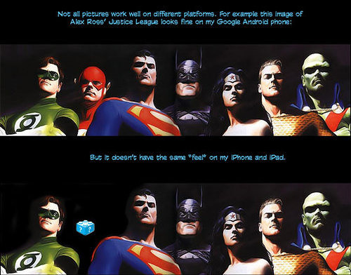 Thumb The Justice League in the iPad or iPhone