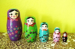 Modern matryoshka (Miss Thundercat) Tags: birds colorful swap surprise received matryoshka pif russiandoll swapbot