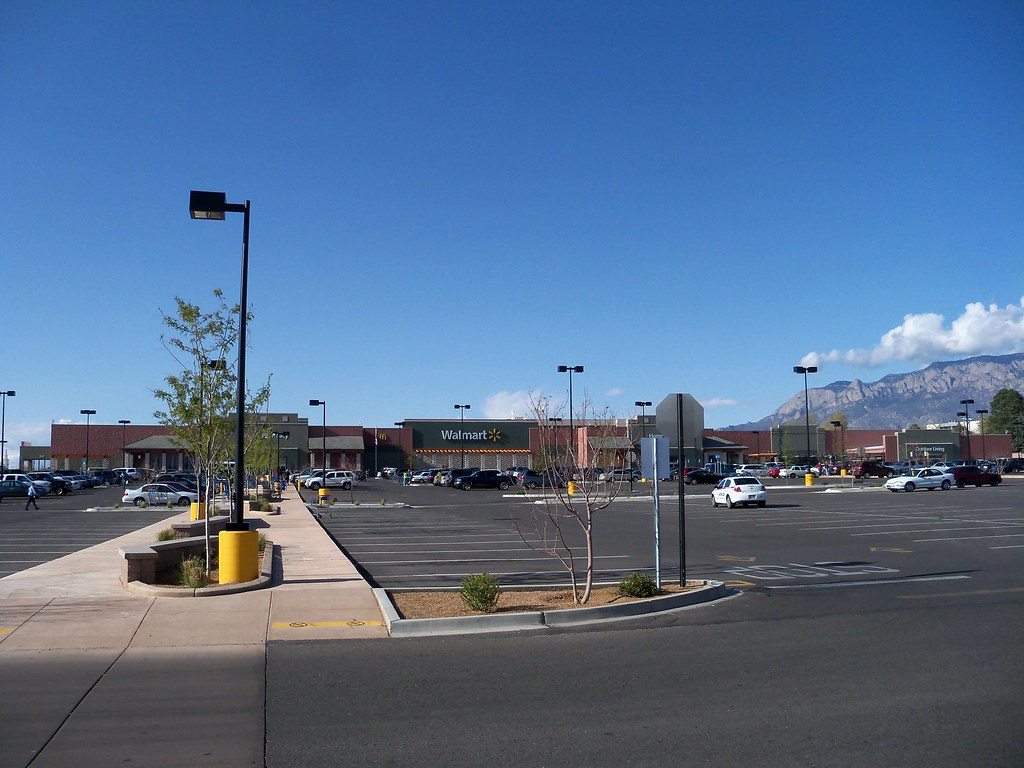 Newer Wal-Mart Supercenter, in Albuquerque, New Mexico.