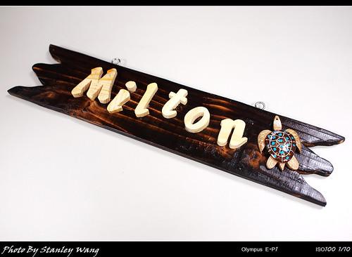 Milton門牌