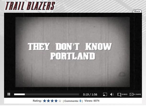 Portland Trail Blazers Playoffs, Rip City Uprise 2010 Video