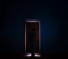 the door (cesarr terrio) Tags: lighting door wood light boy night project dark stand wooden holding day shine daniel air year go dream front dreamy through 365 coming dust knob vignette shining towards hold infront terrio badbodydoubletrouble