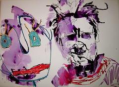 Julia Kay & sculpture portrait for her portrait party 19/04/10