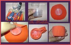 Como fazer um vasinho para lembrancinhas com material reciclavel. (Iris Florarte) Tags: flor borboleta fuxico reciclagem joaninha linha tecido malha lembrancinha reciclando passoapasso colaquente reaproveitando copoderequeijão reusando