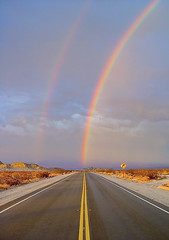 Rainbow (tobias.th) Tags: road street arizona sky usa clouds rainbow sony nevada himmel regenbogen f707 strase